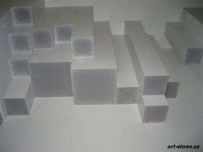 Стойка рецепции и кассовый модуль из искусственного камня Полистоун