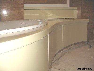 Экран для ванны из искусственного камня  Corian