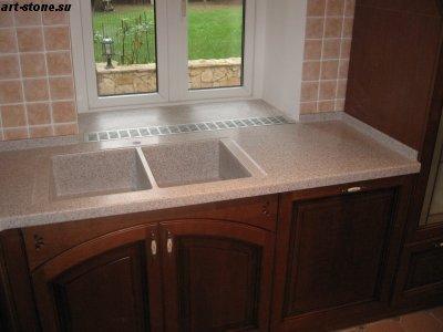 Кухонная столешница и подоконник из искусственного камня POLYSTONE