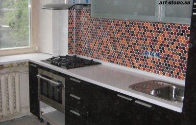 Кухня с искусственным камнем Polystone