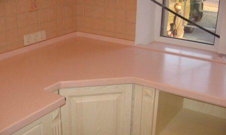 Искусственный камень Polystone на кухне